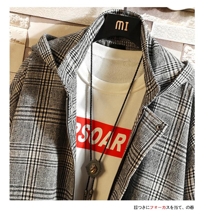Male Long Coat Oversize Lapel Button Sobretodos Hombre Overcoat Streetwear (45)