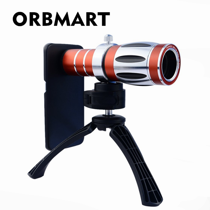 ORBMART 20X Optical Zoom Lens Camera Telescope With Mini Tripod Case Cover For iPhone 6 6s 6 Plus 6s PlusORBMART 20X Optical Zoom Lens Camera Telescope With Mini Tripod Case Cover For iPhone 6 6s 6 Plus 6s Plus