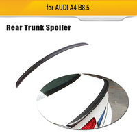 For A4 B8 Carbon Fiber Car Rear Spoiler Wing For Audi A4 B8 8.5 2013 2016 Rear Trunk Boot Wing Spoiler Lip S4 Style Car Sticker