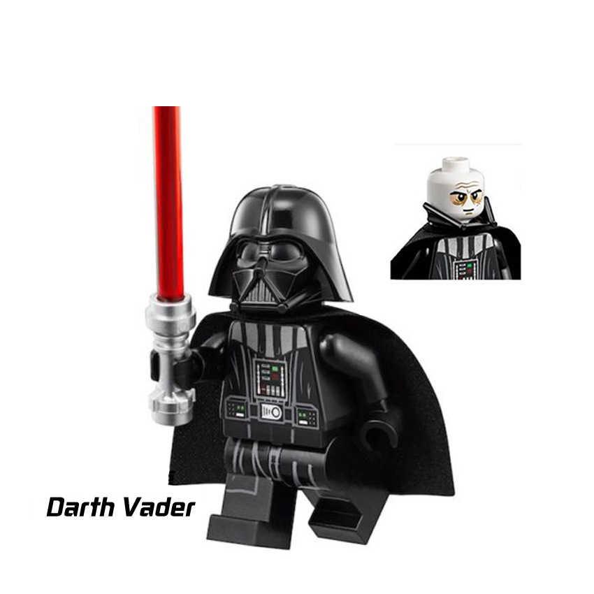 Star Wars figuras de Star Wars Leia Han Solo Yoda Luke Sith Lord Darth Vader Maul Revan Dooku Sidious bloques de construcción ladrillos Juguetes
