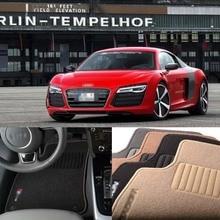 Savanini 2pcs Premium Auto Fabric Nylon Anti-slip Floor Mats Carpet For AUDI R8