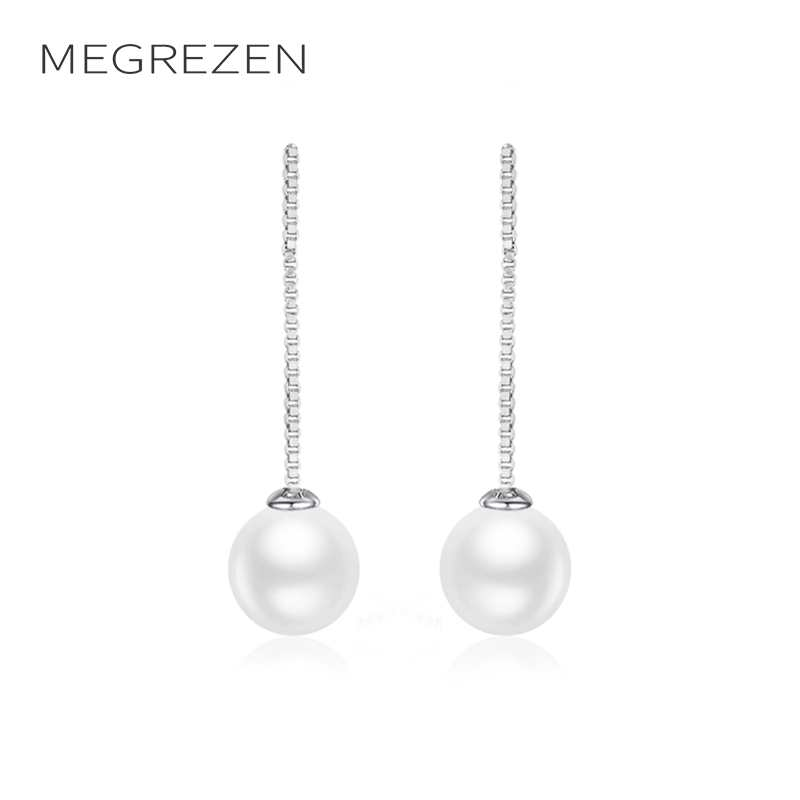 MEGREZEN Korean Fashion Earrings With Imitation Pearls Women Costume Jewelery Earings Dropshipping 2018 Boucle DOreille E1591-5
