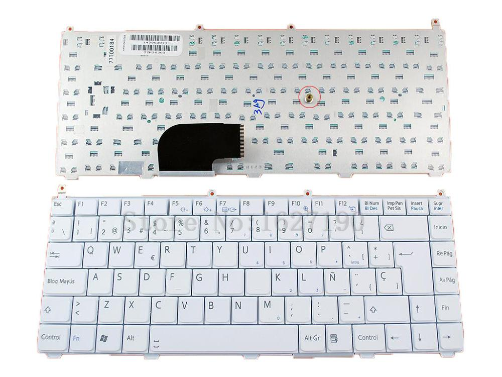 SP Spanish Replacement Laptop Keyboard for SONY VAIO VGN FE WHITE Cuaderno de teclado Repair Computer