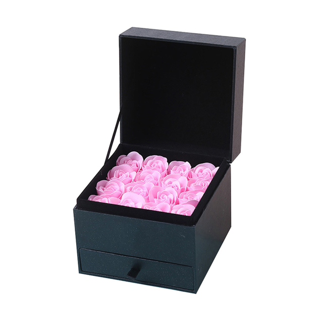 סימולציה רוז סבון פרח עם תיבת מזכרות חתונה חג אהבת מתנת יום הולדת יפה מתנה לאמא