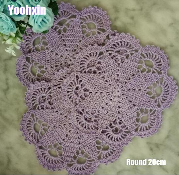Modern 14colors Cotton Round Placemat Cup Coaster Mug Kitchen