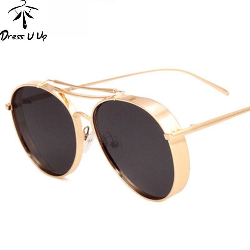 68763a219d7b2 Dressuup nueva moda Top mujeres Gafas de sol diseño de marca de lujo Sol  Gafas para hombres metal Marcos UV400 oculos de sol feminino gafas