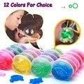 DoDoLu 50g/box Colorful Crystal Mud Handgum Intelligent Plasticine Magic Playdough Crystal Clay Toy kids education toys