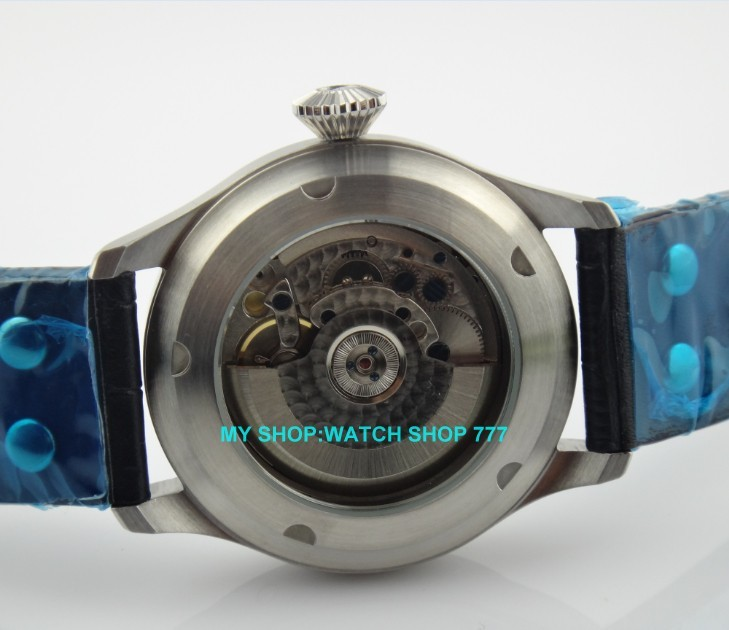 47 mm PARNIS Black dial Automatic Self-Wind movement power reserve men watches Mechanical watches G003A 5