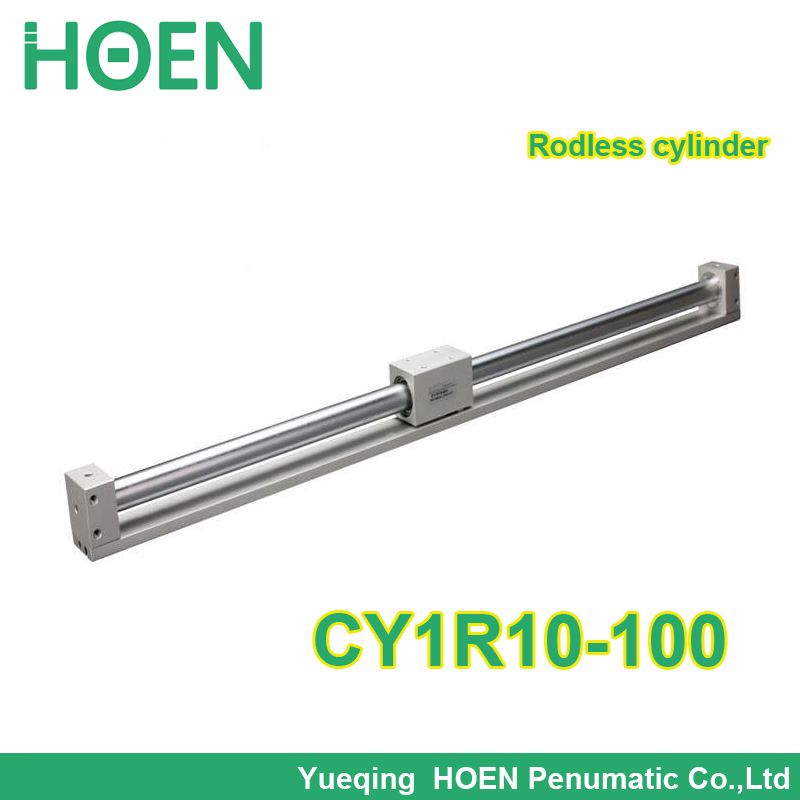 CY1R10-100 SMC type Rodless cylinder 10mm bore 100mm stroke high pressure pneumatic cylinder CY1R CY3R series CY1R10*100 high quality double acting pneumatic gripper mhy2 25d smc type 180 degree angular style air cylinder aluminium clamps