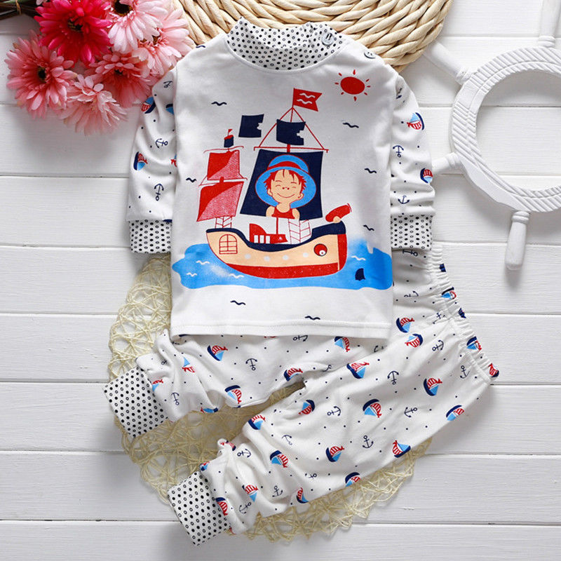 Toddler-Baby-Boys-Girls-Long-Sleeve-Pyjamas-Captain-Giraffe-Rabbit-Print-Pajamas-Set-Nightwear-T-shirt-Pants-Kids-Sleepwear-21-2