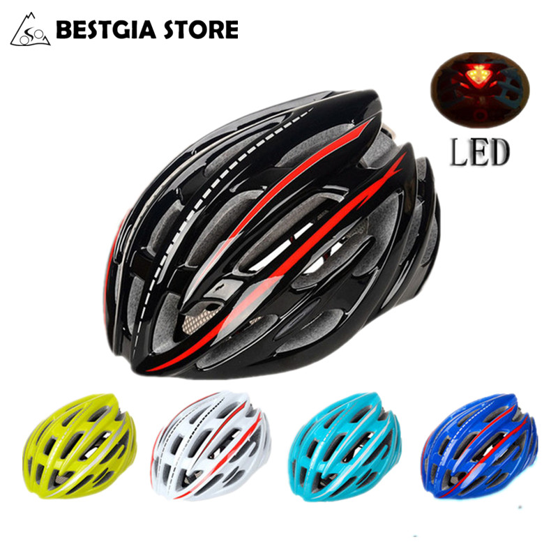220g Ultralight LED Velosiped Kask Professional Yol Velosiped Velosiped Kaskaları MTB 54-59sm Casco Ciclismo PC + EPS material 5 rəng
