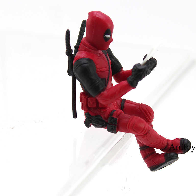 Deadpool 2 Mini Tela Do Computador Decoração Boneca PVC Action Figure Collectible Modelo Toy 6 cm