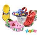 Пляжные шлепанцы для маленьких мальчиков и девочек  детские сандалии с 3D рисунком  детская обувь из ЭВА  Нескользящие  дышащие  2019