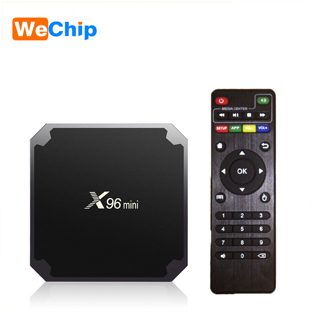 Wechip X96 mini Android 7.1 TV BOX 2 GB 16 GB Amlogic S905W Quad nucleo Suppot H.265 UHD 4 K 2.4 GHz Wireless WiFi X96mini Set top box