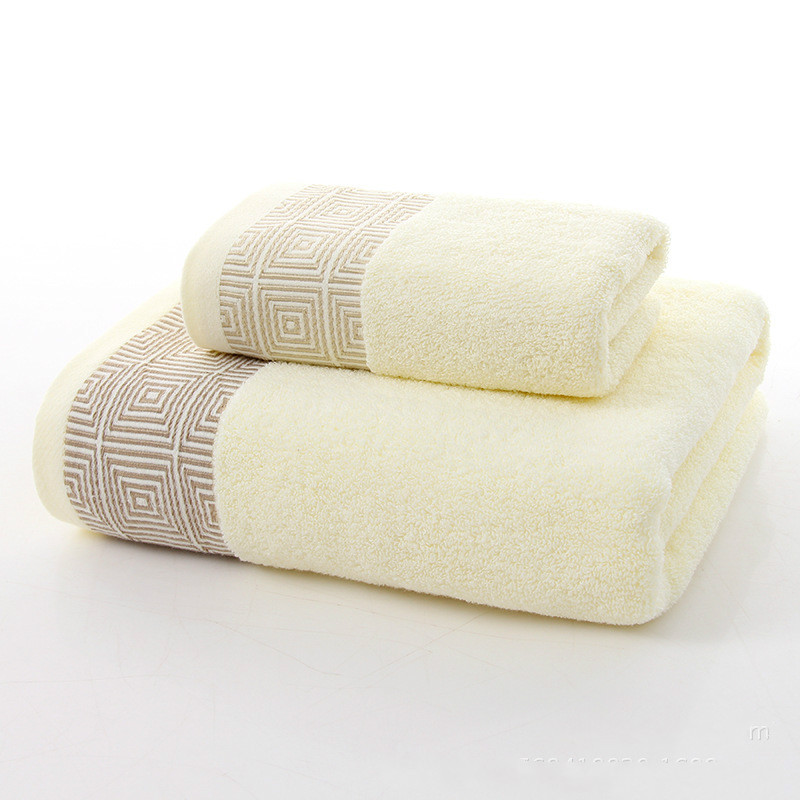 Towels with 74x34cm and 140x70cm 100% Cotton Bath Towel Face Towel for babychildrenadult beach Spa toweltowels with 3 color (2)