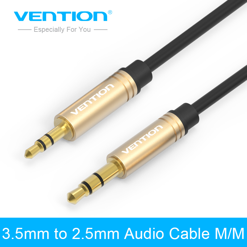 Vention Jack 2.5mm to 3.5mm male to male Audio Cable Gold-plated Stereo Aux Cable 1m 2m 3m for Phone Headphone Car Mp3/4