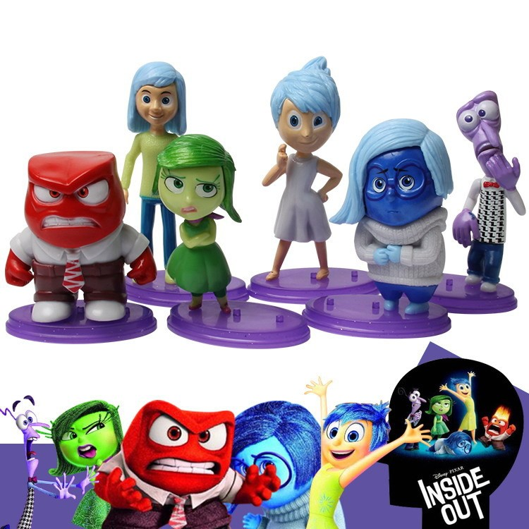 US $8 99  Retail Cartoon Animation 6pcs/set Inside Out toys 6cm 9cm PVC  Figure Emotions Anger Joy Fear Disgust Sadness dolls-in Action & Toy  Figures