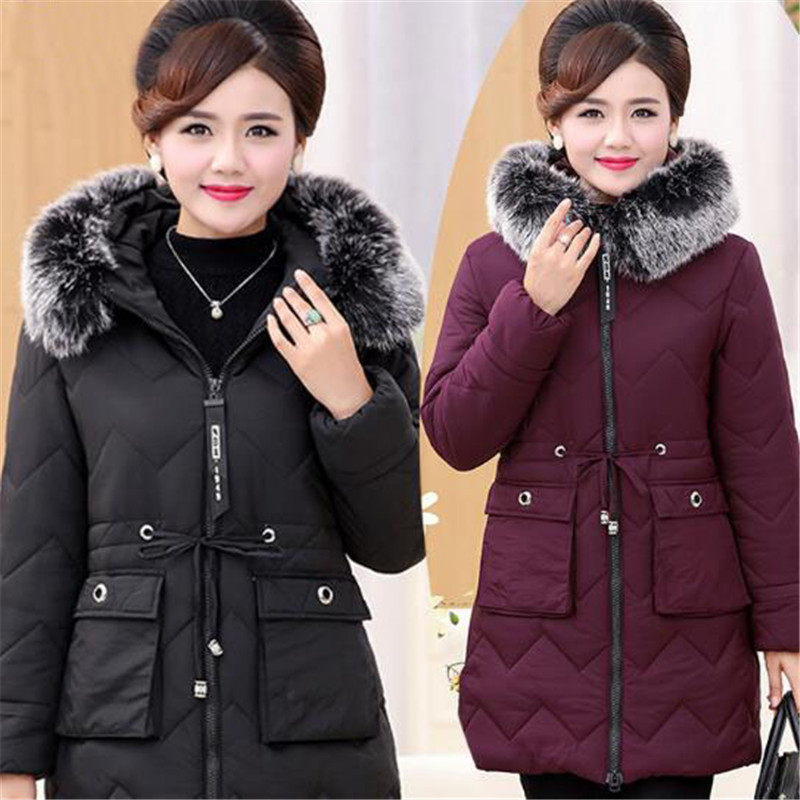 Ladies Winter Warm Coat Women Long Parkas Fashion Faux Fur Hooded Womens Overcoat Casual Cotton Padded 3 Color Jacket A4067 fashion 2017 women winter jacket warm fur hooded parkas female long casual cotton padded thickening winter coat outwear cm1412