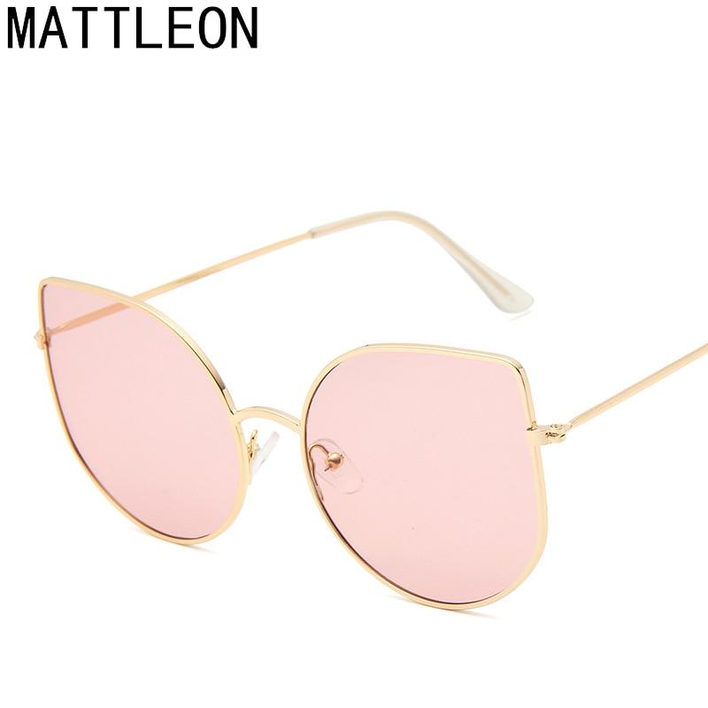 Sunglasses Women Drop-Shaped Tinted-Color Trendy Cat-Eye Brand UV400 Famle New