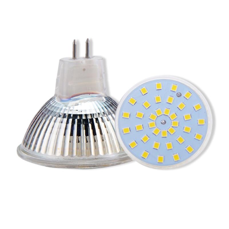 Led lamp cup mr16 12v GU5.3 pin spotlight 220v 50mm mr11 COB 3W 5W 7W white yellow light bulb for halogen lamp