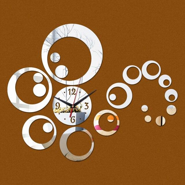 Neue Mode Acryl Diy Wanduhr Uhren Moderne Wohnzimmer Wohnkultur Runden  Spiegel Aufkleber Möbel Aufkleber Kostenloser Versand