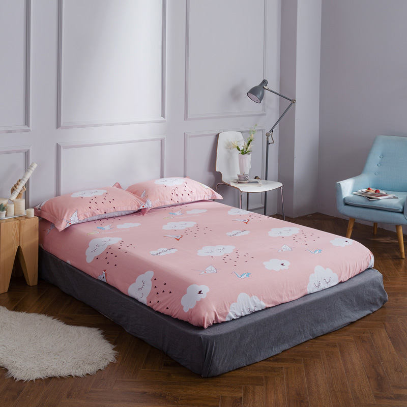 2018 new cotton Twin Full Queen size fitted sheet ...