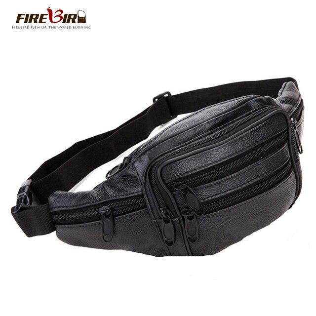 Жар-птица! 2015 Новый Европейский человек талии кожаный мешок Моды случайные путешествия талии сумка поясная сумка для мужчин H95