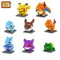 Loz modelo juguetes figuras de pokemon pikachu anime bulbasaur charmander squirtle mewtwochild navidad niño bloques de construcción sin caja