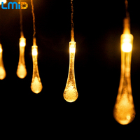 Holiday Lighting 4x0 6M AC220V Waterdrop Colorful Fairy Curtain String Light Home Garland Outdoor Christmas Decoration