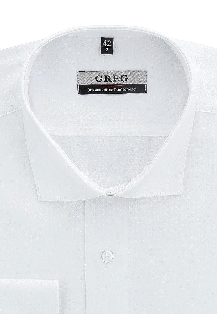 Shirt men's long sleeve GREG 113/199/1019/ZV White mini shatsu bat cape long sleeve tee