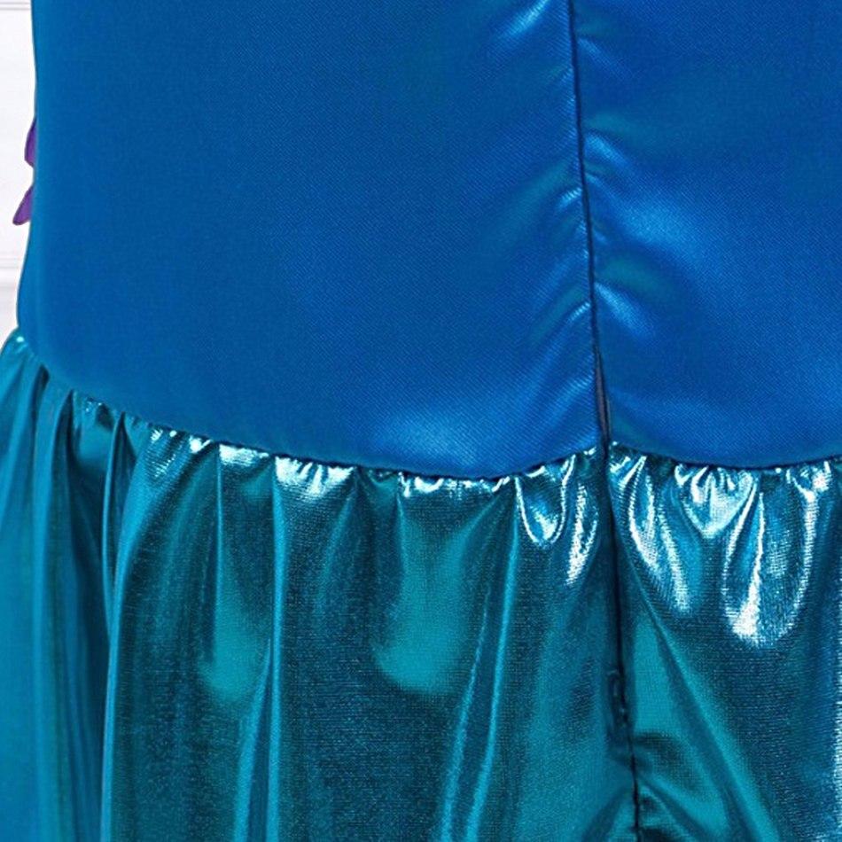 Girls Little Mermaid Summer Princess Dress (8)