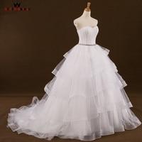 Custom Size Ball Gown Sweetheart Ruffle Organza Long Formal Wedding Dresses Bridal Wedding Gowns 2018 New