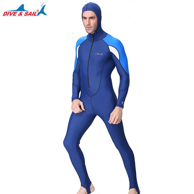 edd25273d1 US $11.2 30% OFF|Full Body Swimsuit Stinger Suit UV Protection UPF50+Dive  Skins with Hood Basic Layer Wetsuit for Mens Womens Swimwear Bathsuit-in ...