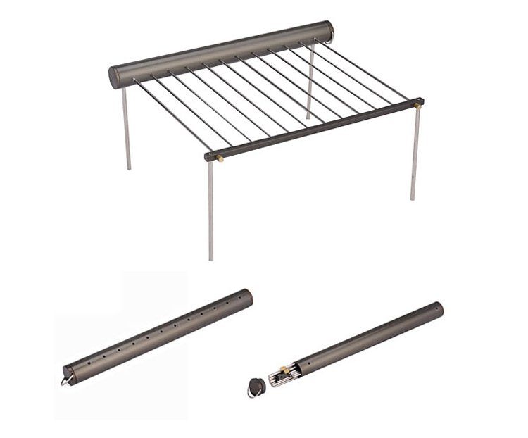 Bulin Camping Cookware Picnic BBQ Folding Grill Outdoor Aluminium Alloy Grill 488g R010