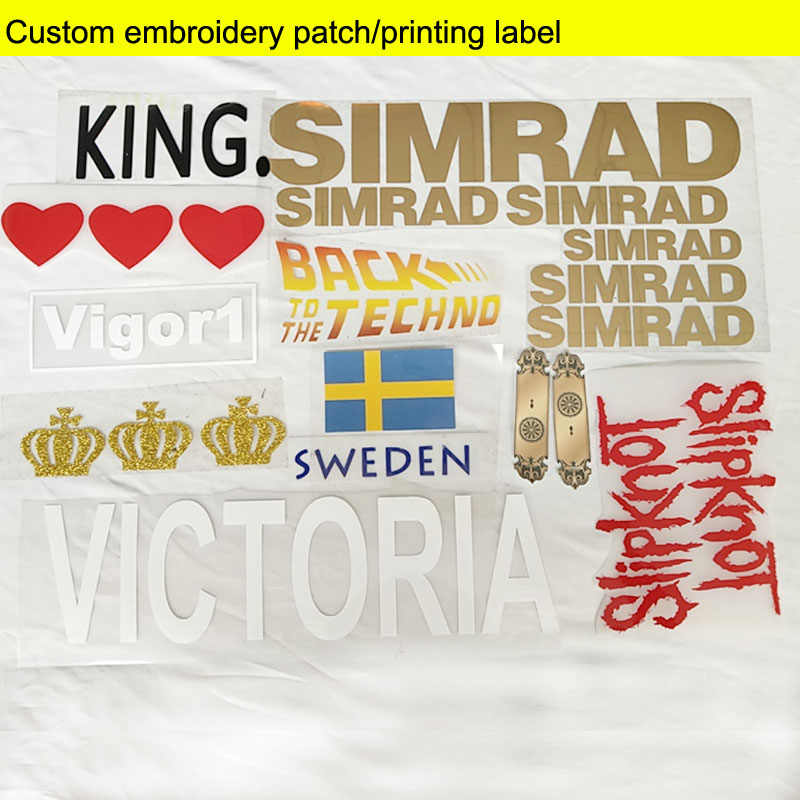 Custom aangepaste logo t-shirt logo print Transfer-film Vinyl Afdrukken LOGO op T-shirts Transfer film Vinyl print op kleding