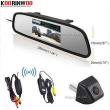 Koorinwoo Video 4.3 Inch LCD Car Rearview Mirror Monitor Display 170 Degree CCD Backup Reversing Rear View Camera Parking Assist