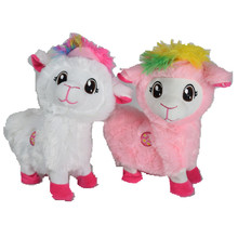 1pcs Electric Dancing Pets Sheep Plush Toy Stuffed Animal Toy Electronic Music Shaking Alpaca Toy For Children Christmas Gifts