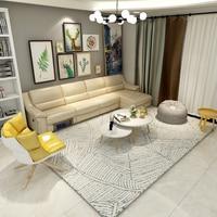 INS Современные Простые ковры геометрической формы для гостиной большие прикроватные коврики ковер спальня скандинавский Вилтон диван пол