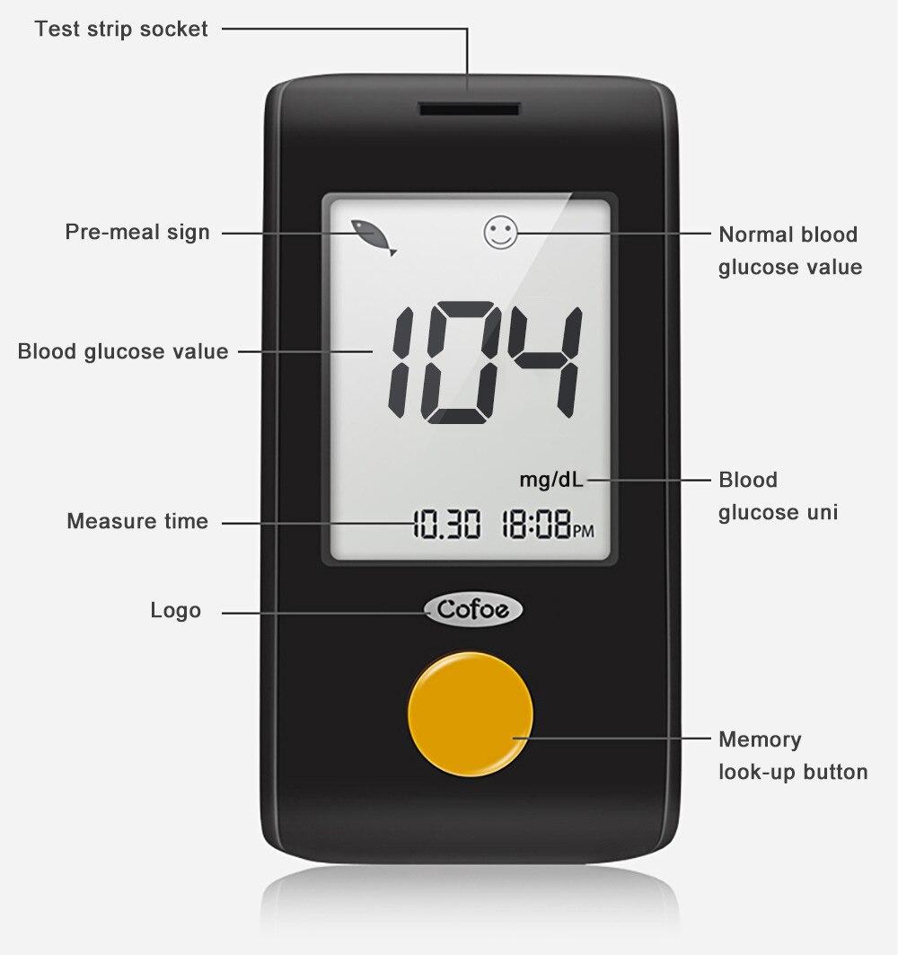 glicose no sangue médico diabetes tiras de