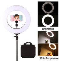 GSKAIWEN 12 Photography Video Studio Ring Light Annular Lamp 3200K 5500K Dimmable Diital Lamp Light With Tripod Stand For Video
