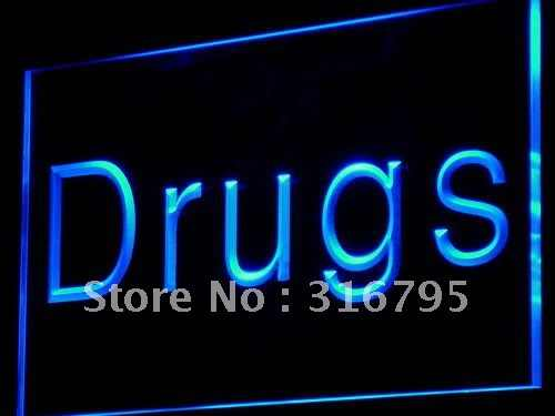 i818 Drugs Store Pharmacy Display NEW LED Neon Light Sign On/Off Switch 20+ Colors 5 Sizes