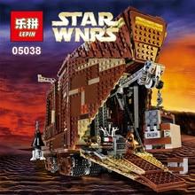 EN STOCK LEPIN 05038 3346 Pcs Star Wars Force Éveille Sandcrawler Modèle Kit de Construction Blocs Brique Compatible 75059