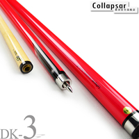 New Collapsar DK Color Billiard Pool Cue Red Blue White Cue13mm Tip 147CM 19oz 20oz Snooker Stick Nine Ball Billiards Free Ship