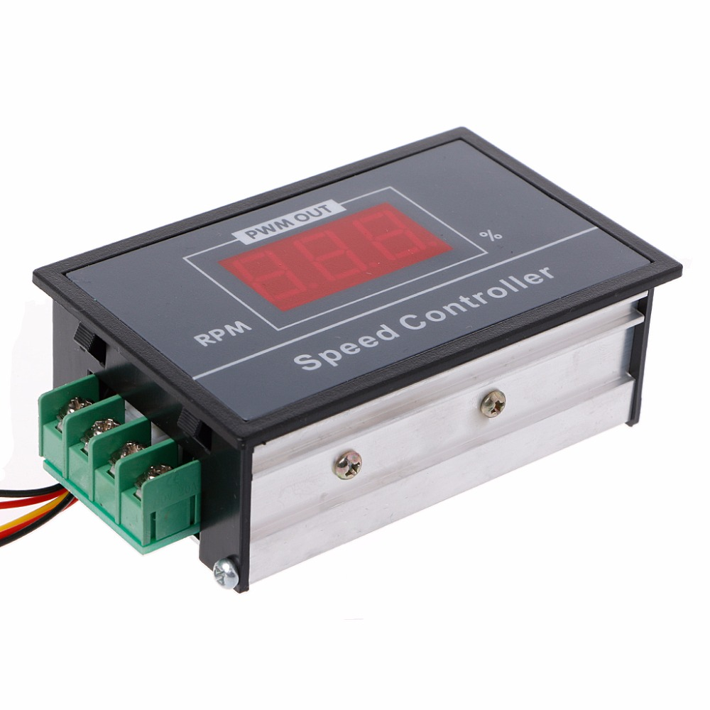 PWM DC 6 60V Motor Speed Controller 0 100 Digital Display Stepless Speed Regulation in Motor Controller from Home Improvement
