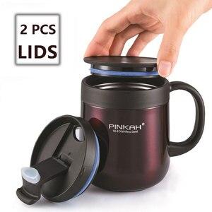 Image 4 - Offre spéciale Pinkah café Thermo tasse 350ml 460ml bureau vide flacons maison Thermos tasse avec poignée tasse isotherme Thermos comme cadeau