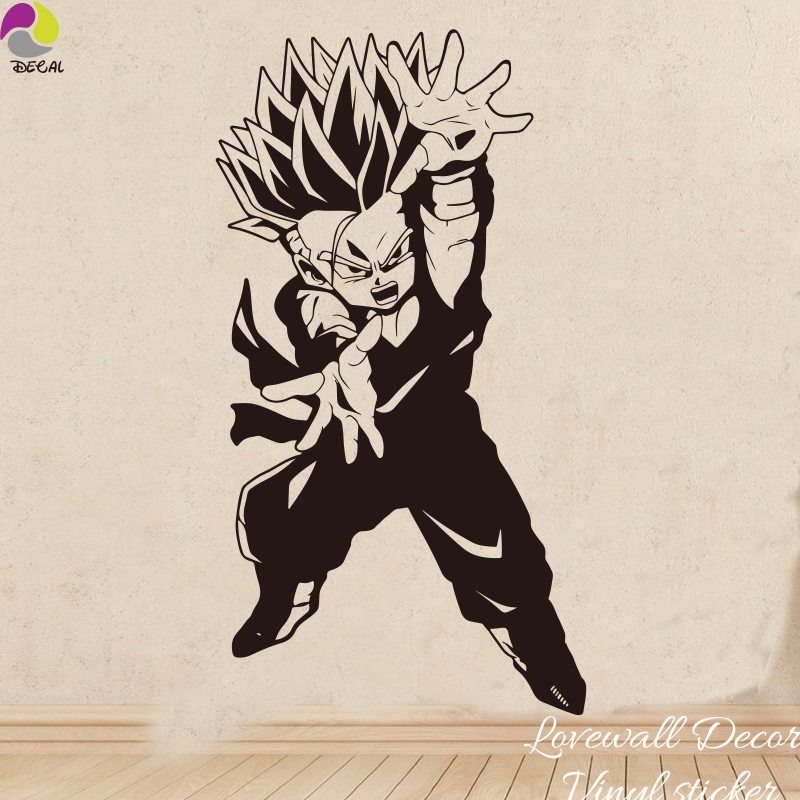 Cartoon Dragon Ball Z DBZ Wall Sticker Kids Room Super SaiyanGohan Goku Janpanese Anime Wall Decal Vinyl Home decor