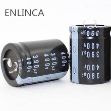 1pcs EC801 좋은 품질 400v390uf 방사형 DIP 알루미늄 전해 커패시터 400v 390 미크로포맷 공차 20% 크기 30x40MM 20%