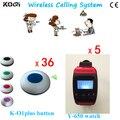 5 botão de chamada de 36 equipamentos de restaurante para venda de equipamentos de serviço de sistema de alarme