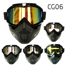 Motorcycle Mask Gafas Motocross Goggles Fitting Open Face Racing Cycling Riding Skiing Goggle Glasses Capacetes Casco CG06
