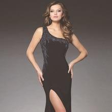 Mode Perlen Chiffon-dünne lange Abendkleider 2016 Sexy Illusion See-Through Seite Split Abendkleider vestidos de noite